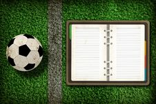 Free Football And Blank Notebook Royalty Free Stock Photo - 20322705