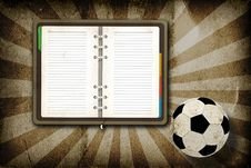 Free Football And Blank Notebook Stock Photos - 20322753
