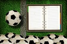 Free Football And Blank Notebook Royalty Free Stock Photos - 20322768