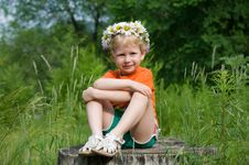 Free Girl In A Wreath Of Flowers Stock Photos - 20322793