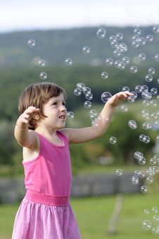 Free Child Playing With Balloons Royalty Free Stock Image - 20322826