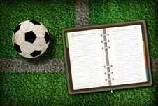 Free Football And Blank Notebook Stock Photo - 20322840