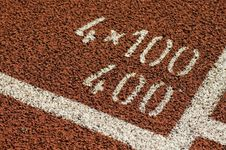 Free Track And Field 400 Meter Mark Stock Images - 20322904