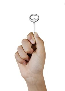 Free Hand Holding Key Stock Photo - 20323710