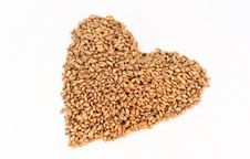Free Wheat Berry Heart Stock Images - 20323924