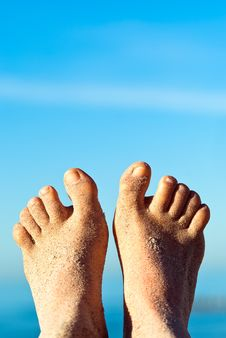 Sandy Feet Stock Photography