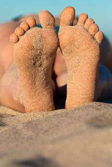 Sandy Feet Royalty Free Stock Image