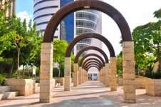 Free Walkway With Arches Royalty Free Stock Photos - 20324158