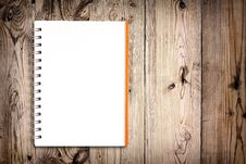 Free Notebook On Wooden Background Royalty Free Stock Image - 20324376