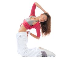 Free Woman Dancer Stretching Dancing Royalty Free Stock Photos - 20324408