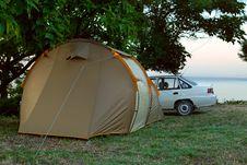 Car Camp Royalty Free Stock Image
