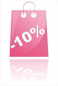 Free Glossy Pink Shopping Bag Royalty Free Stock Photography - 20324927
