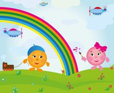 Free Cartoon Rainbow Royalty Free Stock Photo - 20326735