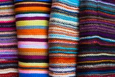 Free A Folded Pile Of Colorful Cloth Stock Photo - 20328380