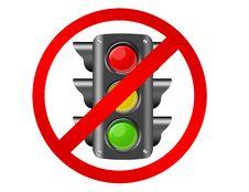 Free Semaphore Prohibited Stock Photography - 20328502