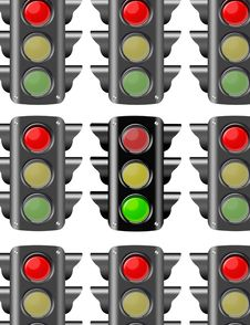 Free Traffic Lights Stock Photography - 20328542