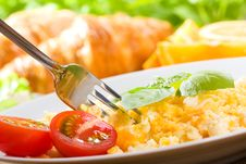 Free Breakfast With Scrambled Eggs Stock Photo - 20329020