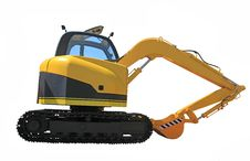 Free Excavator Royalty Free Stock Photo - 20329555