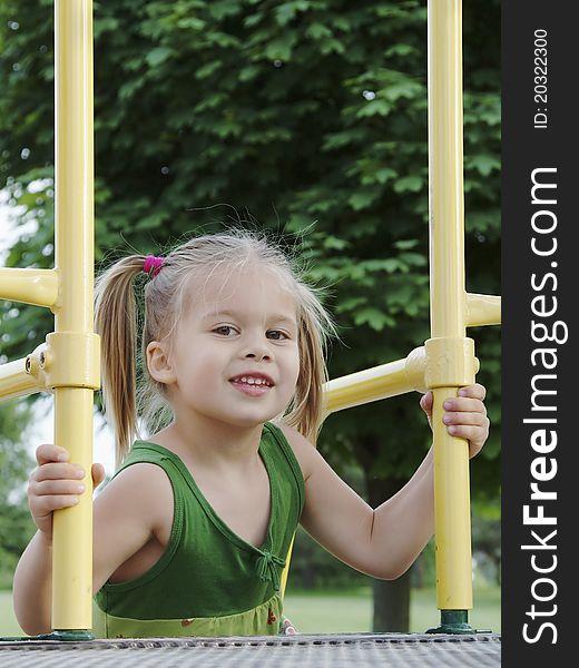 Girl at the playground