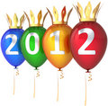 Free New Year 2012 Balloons Royal Party Decoration Royalty Free Stock Photo - 20331155