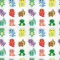 Free Cartoon Fire Dragon Seamless Pattern Royalty Free Stock Image - 20333706