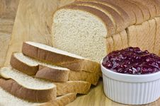 Free Bread And Lingonberry Jam Royalty Free Stock Photo - 20330585