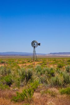 Free Western Scene With Old Windmill Royalty Free Stock Photography - 20331407