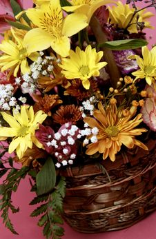 Free Basket Of Flowers Royalty Free Stock Image - 20332206