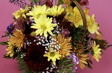 Free Basket Of Flowers Royalty Free Stock Photography - 20332257