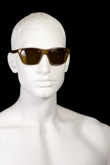 Free Male Mannequin Wearing Sunglasses-vertical Royalty Free Stock Photo - 20332355
