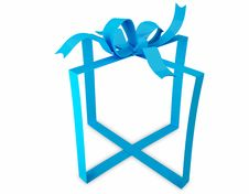 Free Blue Gift Ribbon Royalty Free Stock Images - 20333889