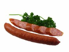 Free Salami Sausage With Parsley Royalty Free Stock Photo - 20333965