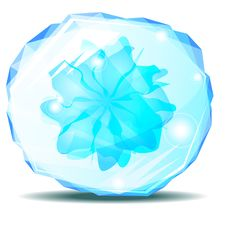Free Blue Crystal With Flower Royalty Free Stock Image - 20334016
