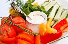 Free Fresh Vegetabls With Sauce Stock Image - 20334051