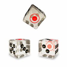 Free 3 Glass Dice Royalty Free Stock Photo - 20334135