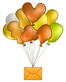 Free Balloons With Mail Stock Photo - 20334300