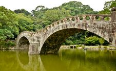 Free Stone Bridge In Japanese Garden Royalty Free Stock Photos - 20334338