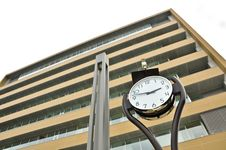 Free Clock In Front Of Building Royalty Free Stock Photo - 20334575