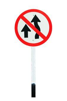 Free No Passing Traffic Sign Royalty Free Stock Photos - 20334578