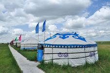 Free Yurts And Flags Royalty Free Stock Images - 20334989