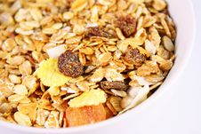 Muesli In A Bowl Royalty Free Stock Photos