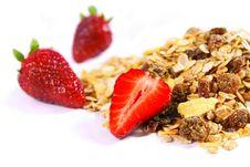 Muesli And Strawberries Stock Image