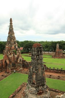 Free Ruined Pagoda In Ayuthaya, Thailand. Royalty Free Stock Image - 20335596
