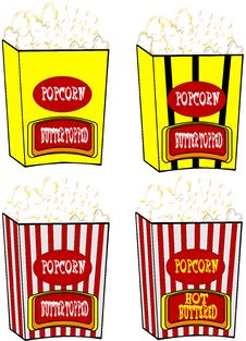 Free Popcorn In Various Styles Royalty Free Stock Photography - 20335647