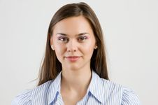 Portrait Of Happy Smiling Business Woman. Royalty Free Stock Image