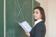 Free Female Student Is Responsible With The Synopsis Stock Images - 20335994