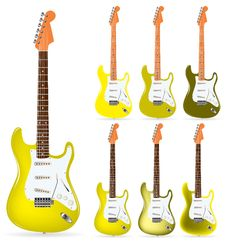 Free Yellow Electric Guitars Royalty Free Stock Photography - 20336177