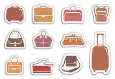 Free Bags And Suitcases Stickers Stock Image - 20336281