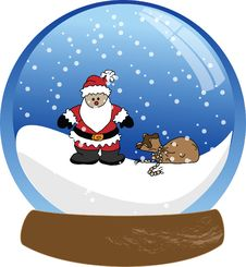 Free Santa Claus Snowglobe Stock Photography - 20336882