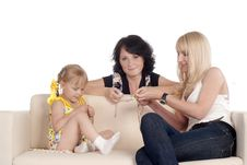Free Family On A Sofa Stock Images - 20337314